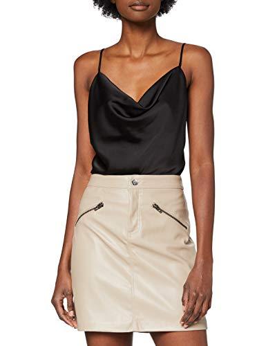 Only ONLHEIDI Faux Leather Skirt OTW Falda, Gris, M para Mujer