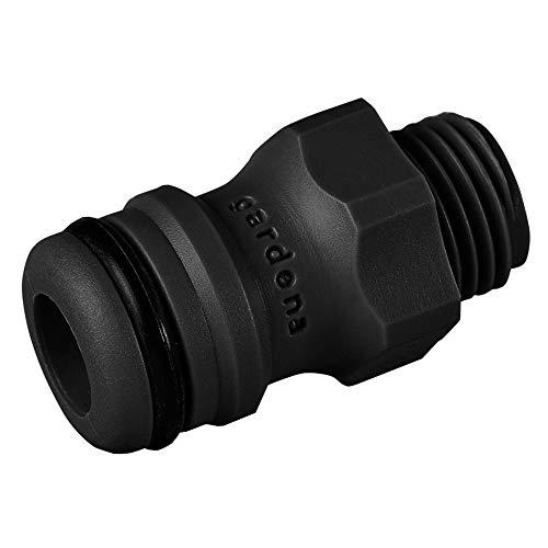 Gardena Anschlusstück: Steckkupplung zum Anschluss von Bewässerungsgeräten an das Original Gardena System, für 13.2 mm (G1/4) Gewinde, grau (2920-26)