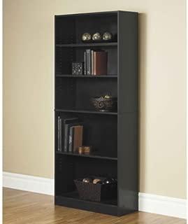 Orion Wide 5-Shelf Bookcase, Multiple Finishes (Black)