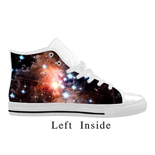 Cheese Pretty modèle galaxie Chaussures Sneaker Femme, Blanc, 39 EU