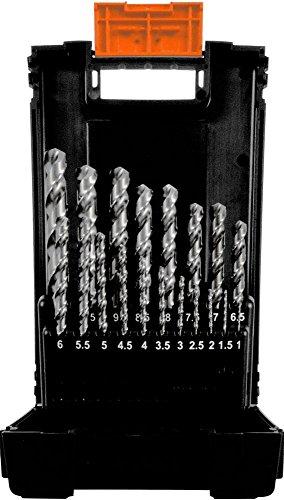 Projahn Spiralbohrer Kassette TURBO (19-teilig, kurze Ausführung, aus dem Vollen geschliffen, lange Lebensdauer) 67318