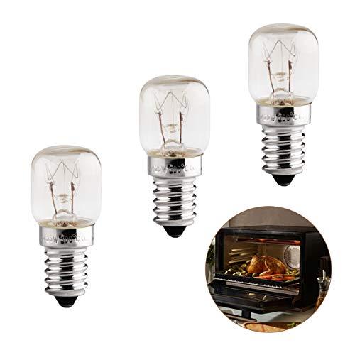 E14 25W Backofenlampe, Lampe Backofen Bis 300 Grad, 3er Pack Backofenlampe E14, 230V