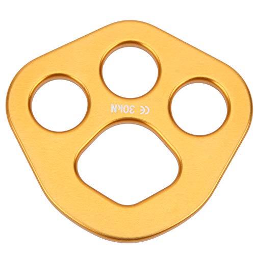 Diseño de forma redonda Placa de aparejo Placa de anclaje a todo color para escalada en roca/expansión al aire libre/descenso/operaciones a gran altitud, etc.(Golden)