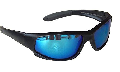 Gil SSC Sportbrille Sonnenbrille Radbrille Bikerbrille Motorradbrille Schwarz Black M 2 (Blau)