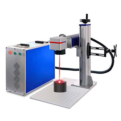 Macchina per marcatura laser a fibra da 30 W per incisore laser a spaccatura in metallo per macchina per gioielli strumento per incisione laser (30 W 110* 110 mm RAYCUS)