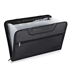 🔥DOUBLE LAYERS PROTECTION:Our newly designed file folder uses different materials than other business bag.Double Layered design, high quality Black Non-itchy Liquid Silicone Coated Fireproof Fiberglass, this bag is FIRE and WATER RESISTANT.And it com...
