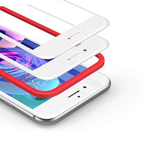 BANNIO [2 Pacco[Telaio di Installazione Incluso] Pellicola Protettiva per iPhone 6   iPhone 6s,Pellicola Vetro Temperato Full Screen con Alta Trasparente,3D-Touch per iPhone 6   iPhone 6s-Bianco