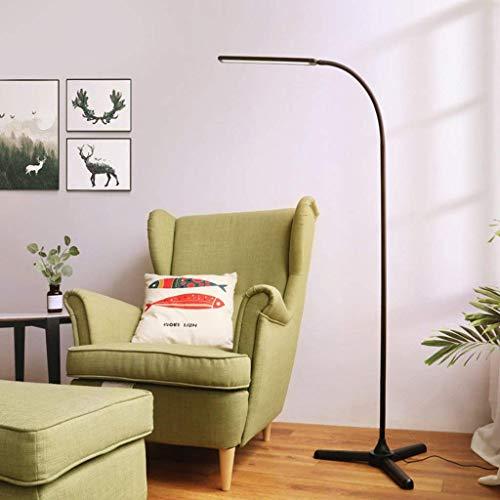 JBP Max Stehlampen Wohnzimmerlampe LED-Bodenlampe Wohnzimmer Schlafzimmer Vertikale Tischlampe Mode Elegant-47,Black,Remote+Touchswitch