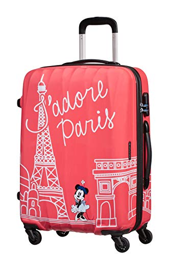 American Tourister Disney Legends Spinner M Valigia per bambini, 65 cm, 62.5 L, Rosa (Take Me Away Minnie Paris)