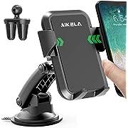 AIKELA Handyhalterung Auto, Handyhalter für Vent, Windschutzscheibe und Dashboard mit klebrigem Gel-Saugnapf, Anti-Shake Handyhalterung Kompatibel iPhone Android Huawei (schwarz1)