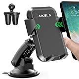 AIKELA Car Phone Holder, 3 in 1 Phone Mount 360° Rotation Car Cradle for Windshield Dashboard Air Vent, One-touch Release for iPhone11Pro/11/XS Max/XS/XR/X/8Plus/7, Galaxy S20/S10/S9/S8, Huawei,Sony