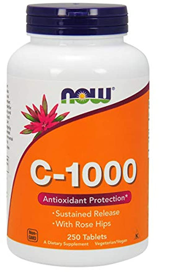 ジレンマ忍耐間欠[海外直送品] ナウフーズ  - バラの実が付いているビタミンC1000の時間解放 - 250錠剤
