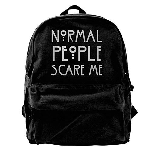 zhengdong Le Persone Normali Mi spaventano Canvas Gym Escursionismo Rusa Laptop Bapa Unisex Travel Busines Daypa