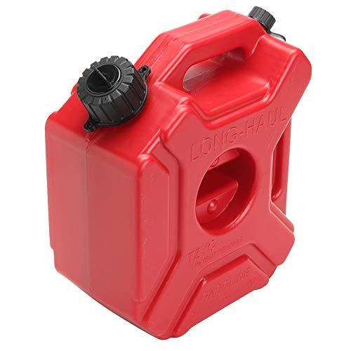 Depósito de Combustible, Bidón de plástico portátil de 3L, Fuel Oil Gasolina Almacenamiento Diesel Tanque de Gas con Soporte y Tubo de Aceite para Motocicleta Coche UTV ATV Remolque de Barco