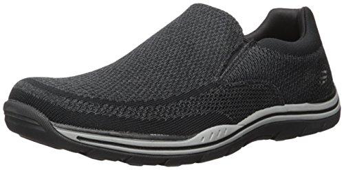 Skechers USA Men's Expected Gomel Slip-on Loafer,Black,12 2W US