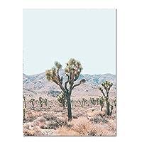 HANSHUIHONGポスタークラシックデザートキャメルウォールアートプリント自由奔放に生きるスタイルのキャンバスポスターカリフォルニアアリゾナ旅行デザートアート絵画装飾的な絵家の装飾-60x80cmx1フレームなし