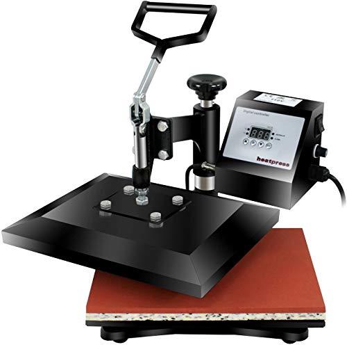"SUPER DEAL PRO 12"" X 10"" Heat Press Machine Digital Swing Away Heat Transfer Printing Sublimation Machine for T-Shirts, Bags, Black"
