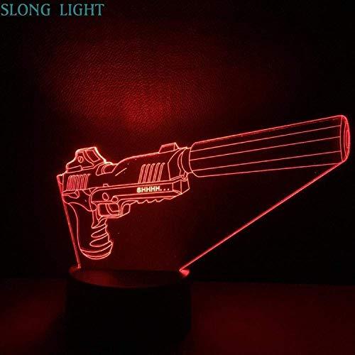 ❤ Luce creativa visiva 3D: il 3D è solo visivo, l'illuminazione stessa è un effetto di illuminazione piatta, incredibili effetti ottici di illuminazione decorativa per la casa. ❤ 7 impostazioni colore e 2 modalità - Cambia il colore della luce in ros...