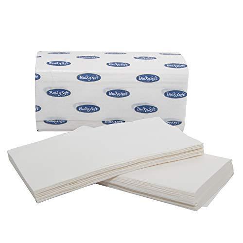 Palucart 630 asciugamani piegati a V pura cellulosa 2 veli compatibili con i dispenser z e c 210mm x 210mm