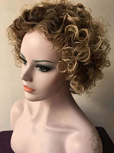 Synthèse de fil à haute température Pour processus de cheveux Rose Intranet Mode Ms Perruques de cheveux bouclés courts