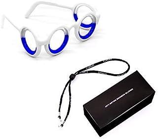 Anti- Motion Sickness Smart Glasses,No Lens Liquid Eliminating Motion Sickness for Adults Kid,Raised Airsick Sickness Seasickness Lensless Foldable Glasses for Sport Travel Gaming