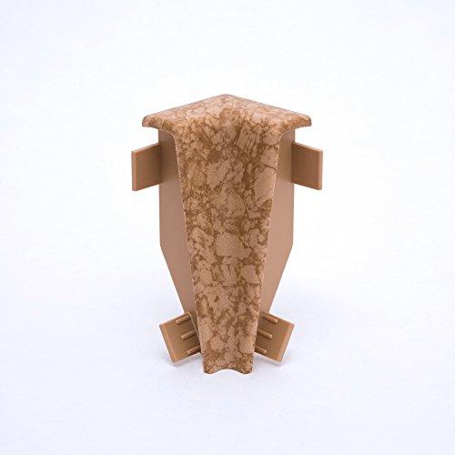Innen- und Außenecken, Verbinder und Abschlüsse für Sockelleisten 60mm (Innenecke, Kork)