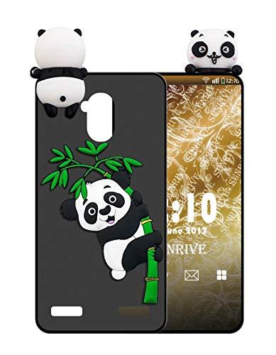 Sunrive Für ZTE Blade V7 Lite Hülle Silikon, Handyhülle matt Schutzhülle Etui 3D Hülle Backcover für ZTE Blade V7 Lite(W1 Panda 2) MEHRWEG+Gratis Universal Eingabestift