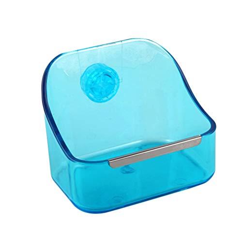 POPETPOP Kaninchenschale Käfig Futter Wasser Heuschüssel verhindert Umkippen für Kaninchen, Meerschweinchen, Chinchilla, Hamster (blau)
