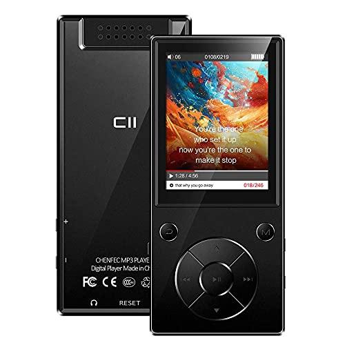 CCHKFEI Lettore MP3 da 32GB Bluetooth Schermo a colori da 2,4 pollici Hifi Metal Music Lettore MP3 con altoparlante Bluetooth Radio FM Registratore vocale per viaggi sport