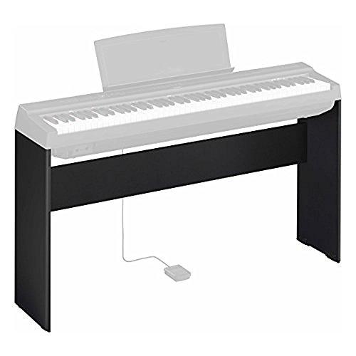 Yamaha L-125B, Supporto per Pianoforte Digitale Yamaha P-125, Design Compatto e Resistente in Legno, Nero