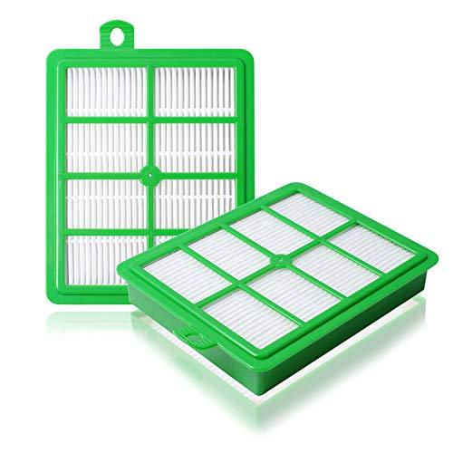Replacement EL012B Electro H12 Hepa Filter Compatible with Electrolux EL4050 EL4100 EL4101A El4335A EL6986A EL012W Vacuums Cleaner ( 2 Packs)