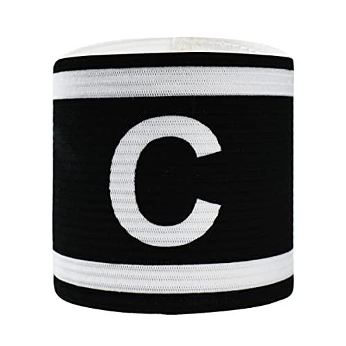 Verte Life Kapitänsband Spielführerbinde für Fußball und Rugby, Verstellbare Armbinde Kapitän Armbinde, Captains Armband für Erwachsene und Kinder - Einheitsgröße/Schwarz