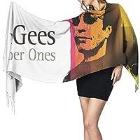 ビー・ジーズbee Gees フリンジスカーフ 防寒 大判 暖かい ストール 男女兼用 肌触り良い 冬定番 おしゃれ マフラー