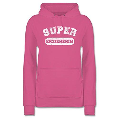 Shirtracer Sonstige Berufe - Super Erzieherin Vintage - M - Rosa JH001F - Damen Hoodie und Kapuzenpullover für Frauen