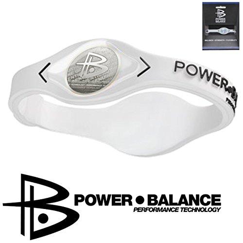 Power Balance Bracelet en Silicone - M blanc - Pro bracelet silicone Ion Uni Sport - IWSA09 GWSA09