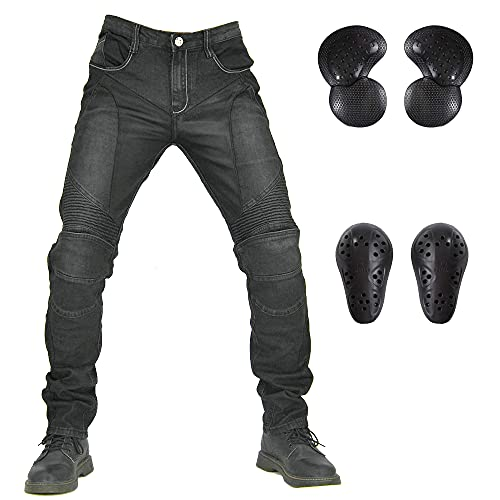 LOMENG Summer Mesh Motorcycle Riding Jeans Cycling Racing Breathable Pants CE Knee Hip Removable...