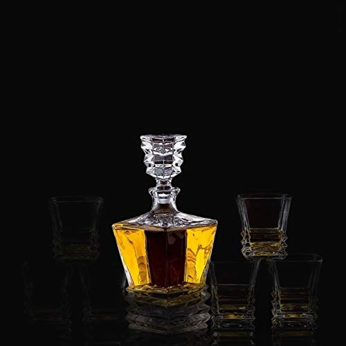 Coffee Cup Champagne Glass Gift European Thickened Whiskey Glass Set Large Foreign Wine Glass Crystal Glass Wine Bottle Creative Wine Set