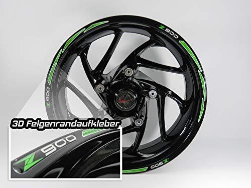 BIKE-label 700013-VA - Adhesivo 3D para borde de llanta, color verde, compatible con Kawasaki Z900