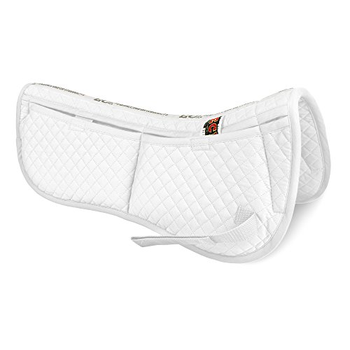 ECP Equine Comfort Products Correction Half Saddle Pad, White