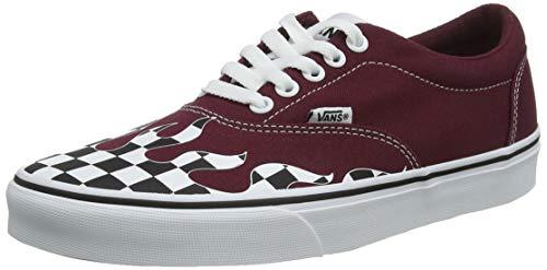 Vans Herren Doheny Sneaker, Rot ((Flame Check) Port Royale/White W76), 42.5 EU