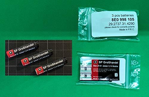SP-Großhandel 3 Stück LR61 (Kurze Version ca. 39,8 mm) AAAA LR 61 MN2500 4061 4961 für Auto KFZ Standheizungen für A4 Fernbedienung - Original Ersatzteil