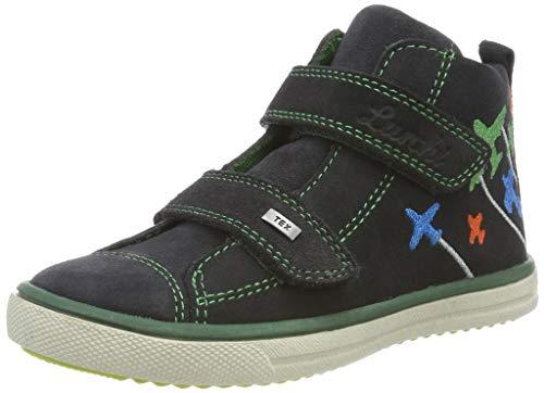 Lurchi Jungen MAX-TEX Hohe Sneaker, Grau (Charcoal 25), 23 EU