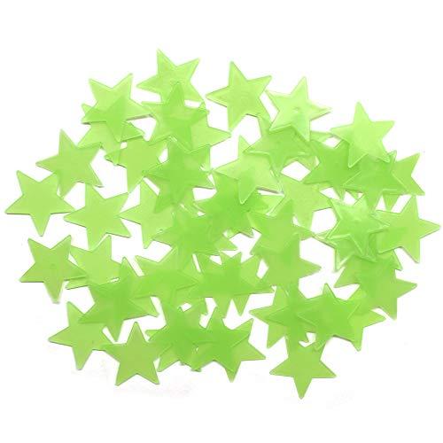 AsianHobbyCrafts Luminous Fluorescent Glowing Night Sky Wall Sticker Radium Glow : Assorted Star