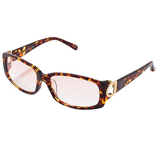 累進多焦点遠近両用老眼鏡(境目のない遠近両用メガネ) 790B 1色 7度数 (+4.00, ブラウンハーフ)