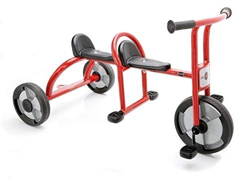 JAALINUS Taxi / Dreirad für 2 Kinder im Alter von 3-7 Jahren / Länge: 115 cm / Sitzhöhe 36 cm / max. Belastbarkeit: 100kg