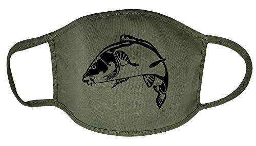 Darkwear Carp Fishing Carp Hunter Carp Father Fish Sports Fashion Mask Gr. One size, Koi Carp Militär-FM, Grün