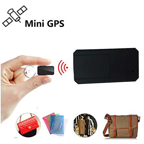 Winnes Mini GPS Tracker, Magnet Micro GPS Ortung Anti Theft Echtzeit GPS Locator für Handtasche Brieftasche Taschen Schulranzen Wichtige Dokumente Verloren Finder Tracker TK901 Schwarz
