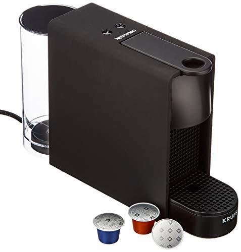 Krups Nespresso XN110N Essenza Mini Kaffeekapselmaschine (1260 Watt, Thermoblock-Heizsystem, 0,7 Liter, 19 bar) schwarz matt