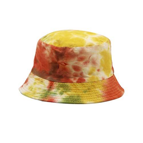 Unisex Mens Womens Bucket Cappelli Leggero Clan Caratteristiche Salvaspazio Colorato Cappello Pescatore Tie-Dye 2 Etichettalia unica