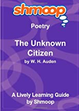 The Unknown Citizen: Shmoop Poetry Guide